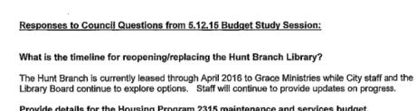 Budget doc Hunt