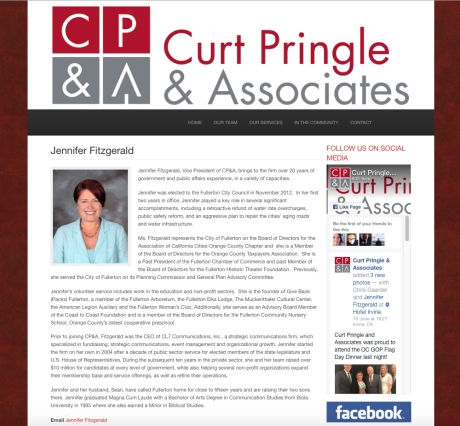 Pringle Fitzgerald Web Page