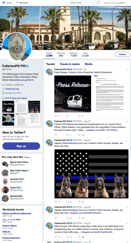 FPDPIO Twitter Feed August 2018